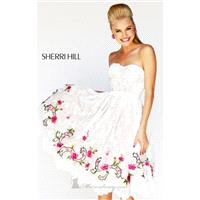 Floral Cocktail Dress by Sherri Hill - Cheap Discount Evening Gowns|Bonny Party Dresses|Charming For