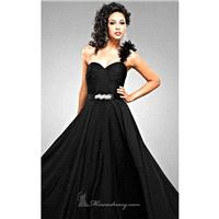 Fitted Bodice Romantic Chiffon Dress By Landa Designs Signature Pageant - Cheap Discount Evening Gow
