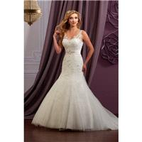 Style 3Y619 by Mary%E2%80%99s Bridal %E2%80%93 Moda Bella - LaceTulle Sleeveless Floor length V-neck