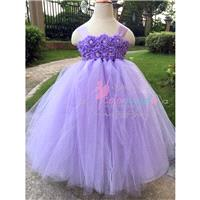 Orchid Flower girl dress Baby girl's Flowers Dress Tulle Dress Wedding Dress Birthday Dress Toddler