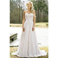 Style 6458 by Lillian West - A-line Floor length Lace Chapel Length Sleeveless Sweetheart Dress - 20