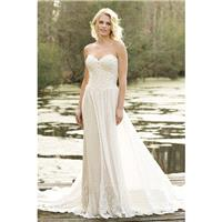 Style 6469 by Lillian West - Floor length Chapel Length Sweetheart ChiffonLace Sleeveless A-line Dre