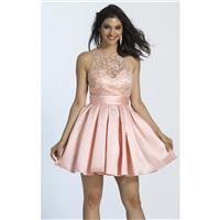 Blush Beaded Pleated Dress by Dave and Johnny - Color Your Classy Wardrobe