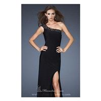 Asymmetrical Open Backed Gown by La Femme 18806 - Bonny Evening Dresses Online