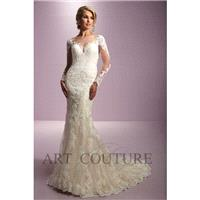 Eternity Bride Style AC534 by Art Couture - Ivory  Champagne Lace Illusion back Floor Wedding Dresse