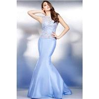 Jovani 25672 Evening Dress - Jovani Social and Evenings Trumpet Skirt Illusion, Jewel, Sleeveless, S