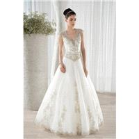 Style 645 by Ultra Sophisticates by Demetrios - Tulle V-neck Ballgown Chapel Length Floor length Cap