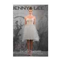Jenny Lee - Fall 2013 - Style 1315 Knee-Length A-Line Wedding Dress with Lace Bodice and Tulle Skirt