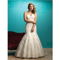 Allure Bridals W360 Wedding Dress - Strapless, Sweetheart Long Allure Bridals Fitted Plus Size Weddi