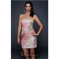 Blush Strapless Short Dress by Lara Designs - Color Your Classy Wardrobe