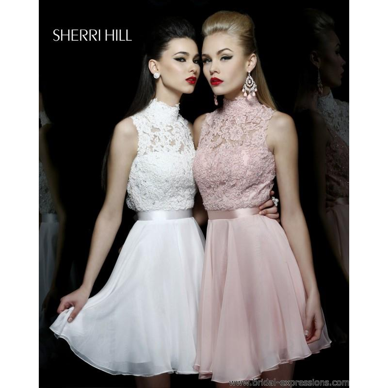 My Stuff, Sherri Hill 21184 Short Chiffon Homecoming Dress - Crazy Sale Bridal Dresses|Special Weddi