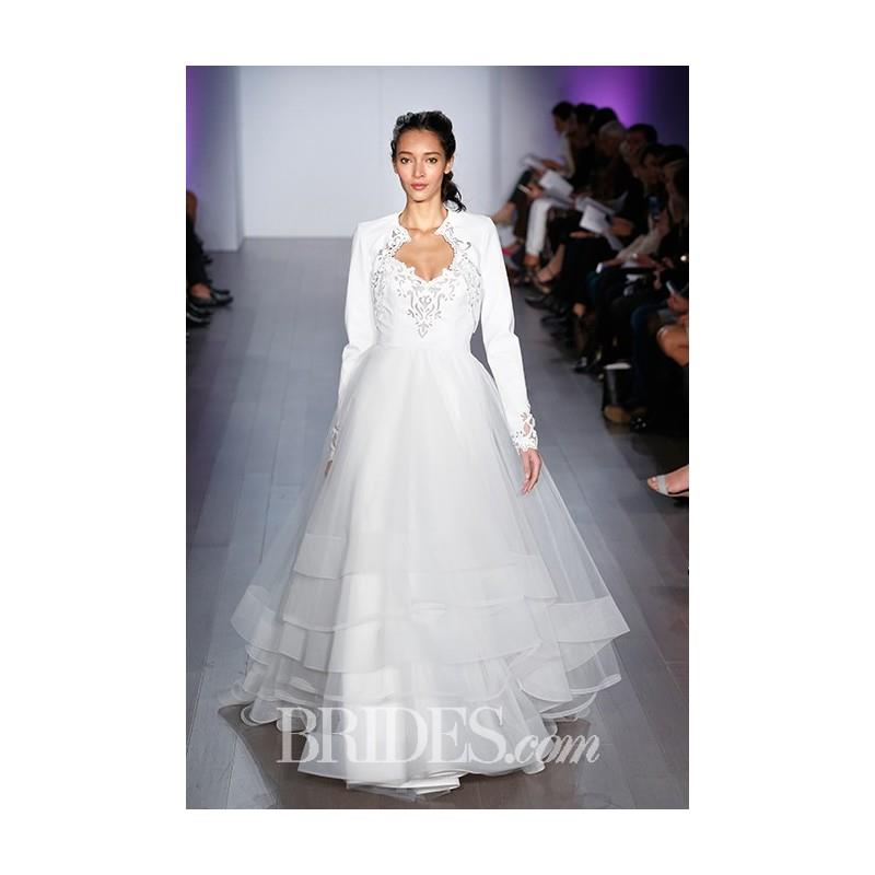 My Stuff, Hayley Paige - Fall 2015 - Long Sleeve A-line Wedding Dress - Stunning Cheap Wedding Dress