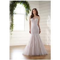 Essense of Australia D2116 - Mermaid Sweetheart Dropped Floor Court Tulle Lace - Formal Bridesmaid D