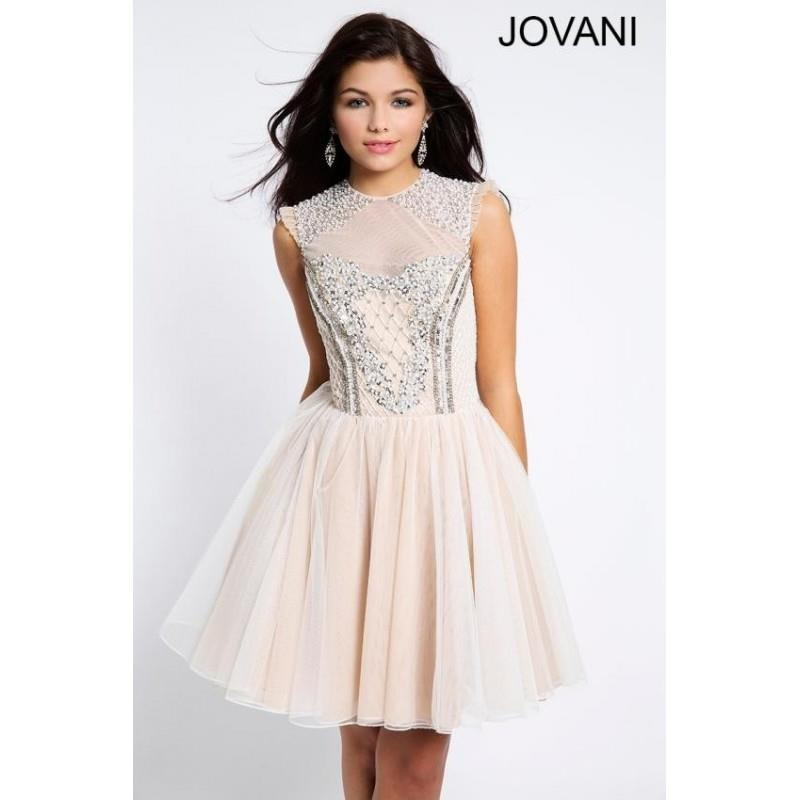 My Stuff, White/Nude Jovani Homecoming 92711 - Brand Wedding Store Online