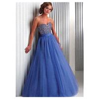 Chic Tulle Sweetheart Neckline Floor-length A-line Prom Dress - overpinks.com