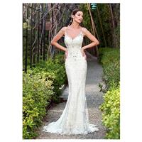 Chic Tulle Spaghetti Straps Neckline Mermaid Wedding Dresses with Beaded Lace Appliques - overpinks.