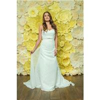 Style D048 by Daisy by Alexia - Ivory  White Chiffon  Lace Floor Sweetheart  Strapless Column Weddin