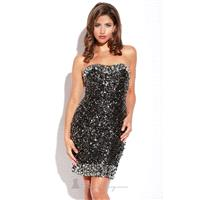 Beaded Sequined Dress by Jolene 13168 - Bonny Evening Dresses Online