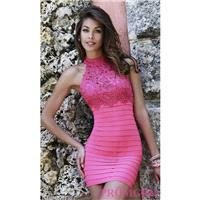 Bandage Homecoming Dress by Sherri Hill with Lace Embroidery - Discount Evening Dresses |Shop Design
