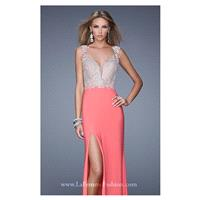 Embellished Slit Gown by La Femme 21120 - Bonny Evening Dresses Online