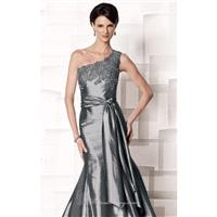 Beaded One Shoulder Gown by Cameron Blake 213631 - Bonny Evening Dresses Online