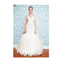 Modern Trousseau - Fall 2015 - Rain Sleeveless Lace Mermaid V Neckline Tulle Skirt Wedding Dress - S