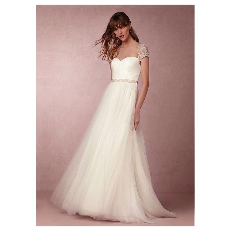 My Stuff, Fabulous Tulle Sweetheart Neckline A-line Wedding Dresses with Beadings & Rhinestones - ov