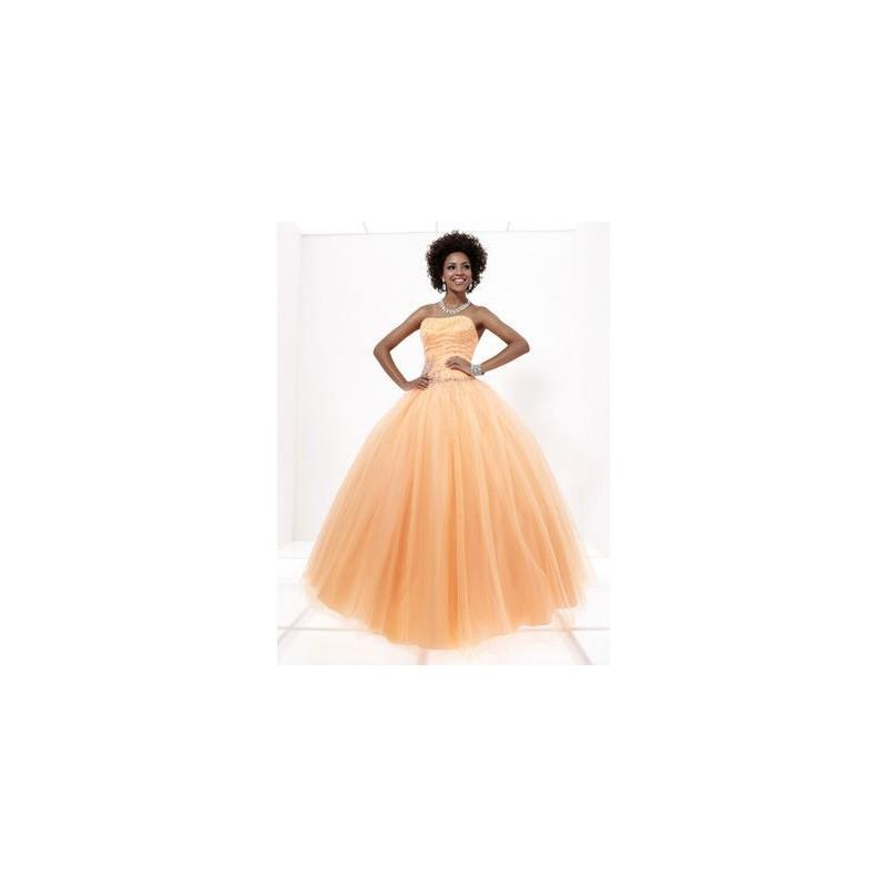 My Stuff, 2017 Stripe Ball Gown Strapless Organza Orange Strapless Long Prom Gown In Canada Prom Dre