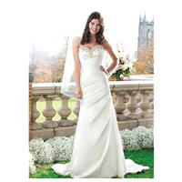 Dignified Stretch Satin&Satin A-line Sweetheart Neckline Natural Waistline Wedding Dress - overpinks