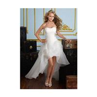 Short Front Long Back Strapless Organza Wedding Dresses In Canada Wedding Dress Prices - dressosity.