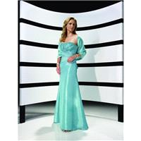 Aqua A Line Strapless Empire Beads Working Satin Floor Length Mother Of Bride Dress In Canada Mother