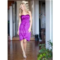 Sleeveless Sweetheart Satin Sheath/ Column Natural Waist Bridesmaids - Compelling Wedding Dresses|Ch
