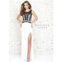 Madison James 15-134 Geometric Beaded Gown - 2017 Spring Trends Dresses|Beaded Evening Dresses|Prom