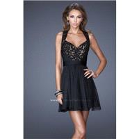 La Femme Short Cocktail 20629 Black,Cranberry,Evergreen Dress - The Unique Prom Store