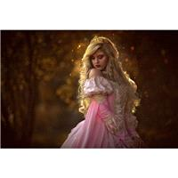 Sale!  Pink Ombre Sleeping Beauty Princess Medieval Fantasy Gown Size Medium - Hand-made Beautiful D