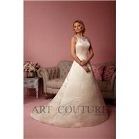Eternity Bride Style AC500 by Art Couture - Coffee  Ivory  White Satin Keyhole Back Floor High  Jewe