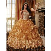Quinceanera Collection 26754 Gold,Fuchsia Dress - The Unique Prom Store