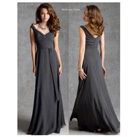 Mori Lee 20424 Bridesmaid Dress - Bridesmaids Off the Shoulder, V Neck Long Natural Waist Mori Lee L