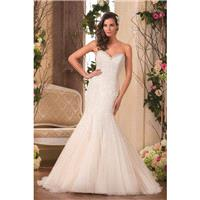 Style F181052 by Jasmine Collection - Ivory  White Lace Detachable Straps Floor Sweetheart  Straples