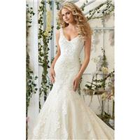 Crystal Embroidered Tulle Gown by Bridal by Mori Lee - Color Your Classy Wardrobe