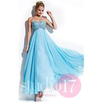 Pink/White Studio 17 12512 - Chiffon Dress - Customize Your Prom Dress