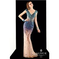 Green/Emerald Claudine for Alyce Prom 2375 Claudine for Alyce Paris - Top Design Dress Online Shop
