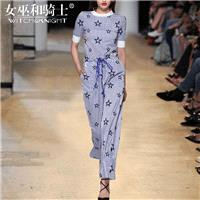 Vogue Printed Embroidery Slimming Scoop Neck Summer Outfit Twinset - Bonny YZOZO Boutique Store