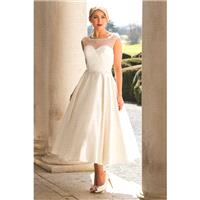 Style E17818 by Special Day European Collection - Ivory  White Satin Tea Sweetheart  Illusion A-Line