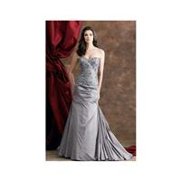 Montage by Mon Cheri Iridescent Taffeta and Lace Evening Dress 110904 - Brand Prom Dresses|Beaded Ev