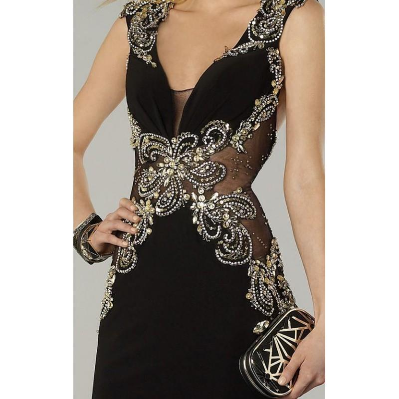 My Stuff, Beaded Sheer Cutout Dresses by Alyce Prom 6400 - Bonny Evening Dresses Online