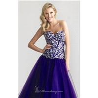 Beaded Strapless Gown by NightMoves by Allure 6647 - Bonny Evening Dresses Online