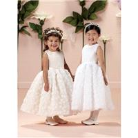 Joan Calabrese 114333 - Joan Calabrese A Line Flower Girl First Communion Tea Length Sleeveless Dres