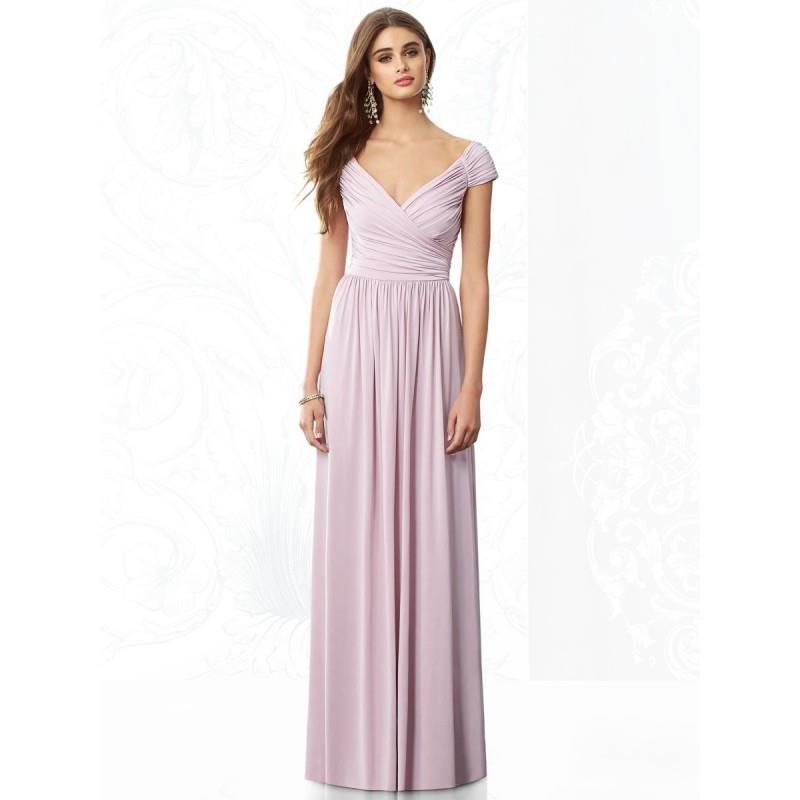 My Stuff, After Six 6697 Cap Sleeve Jersey Bridesmaid Gown - Brand Prom Dresses|Beaded Evening Dress