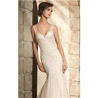 V-Neckline Soft Net Gown by Blu by Mori Lee - Color Your Classy Wardrobe